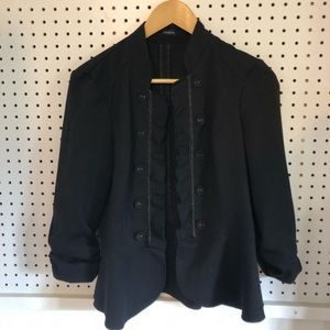 Maurices open-front blazer w/cute scrunched sleeve